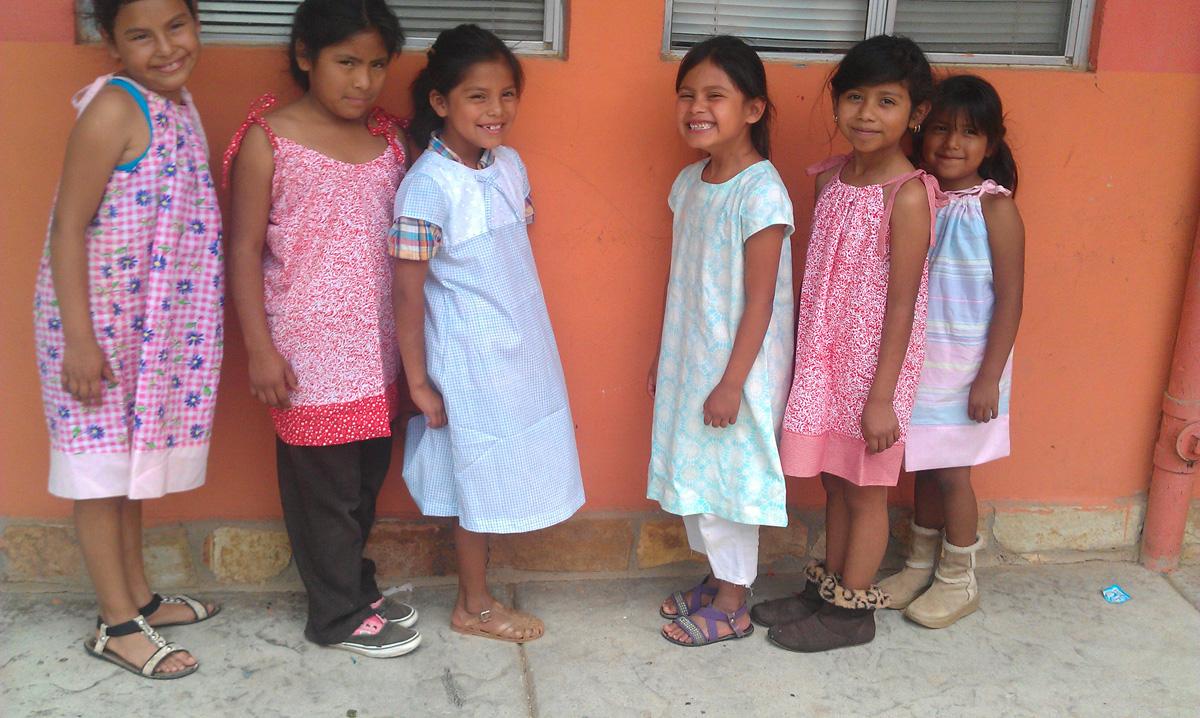 Pillowcase dresses for Casa de Pastor Mexico